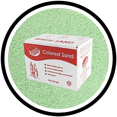 Sandtastik® Classic Coloured Sand, 10 lb (4.5 kg) Box, Mint