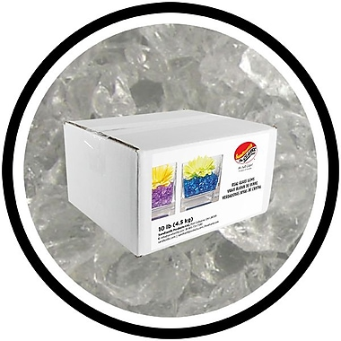 Sandtastik® Coloured ICE Gems, 10 lb, Clear, 3/Pack
