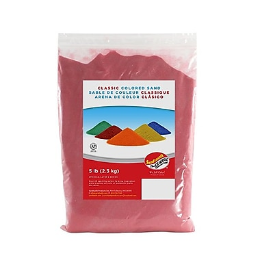 Sandtastik® Classic Coloured Sand, 5 lb (2.3 kg) Bag, Rose