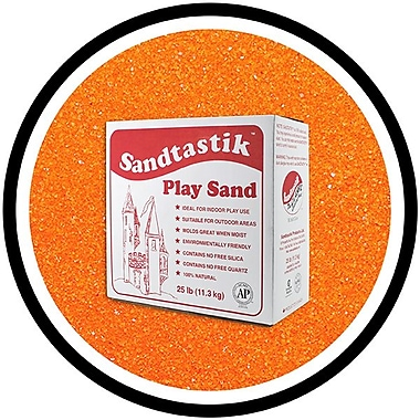 Sandtastik® Classic Coloured Sand, 25 lb (11.3 kg) Box, Orange
