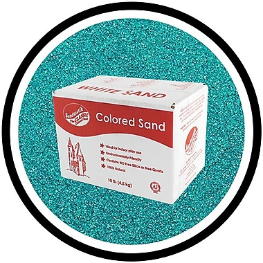 Sandtastik Classic Coloured Sand, 10 lb (4.5 kg) Box, Teal, 3/Pack