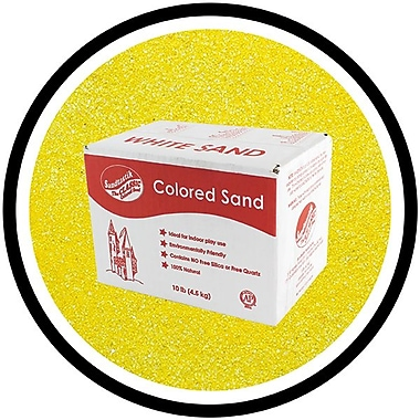 Sandtastik® Classic Coloured Sand, 10 lb (4.5 kg) Box, Yellow