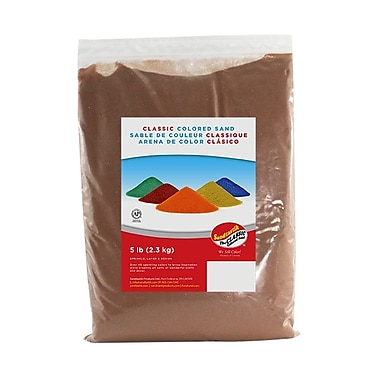 Sandtastik® Classic Coloured Sand, 5 lb (2.3 kg) Bag, Cocoa