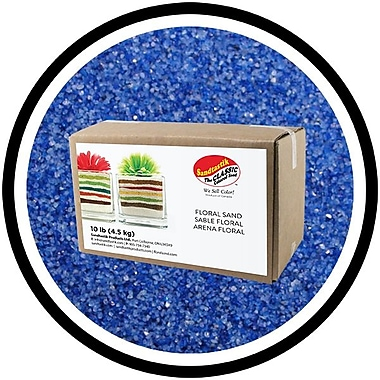 Sandtastik® Floral Coloured Sand, 10 lb (4.5 kg) Box, Blue Hawaii
