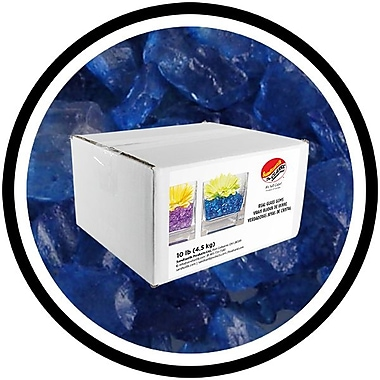 Sandtastik® Coloured ICE Gems, 10 lb, Blue
