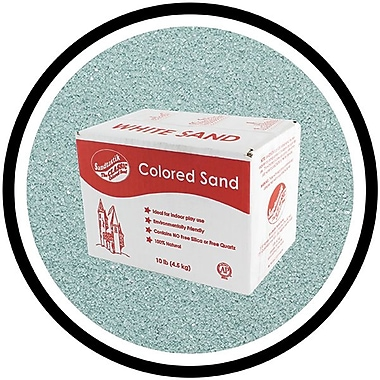 Sandtastik® Classic Coloured Sand, 10 lb (4.5 kg) Box, Aqua