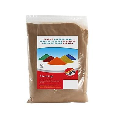 Sandtastik® Classic Coloured Sand, 5 lb (2.3 kg) Bag, Tan, 6/Pack