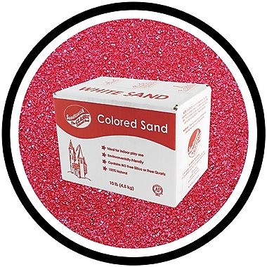 Sandtastik® Classic Coloured Sand, 10 lb (4.5 kg) Box, Burgundy