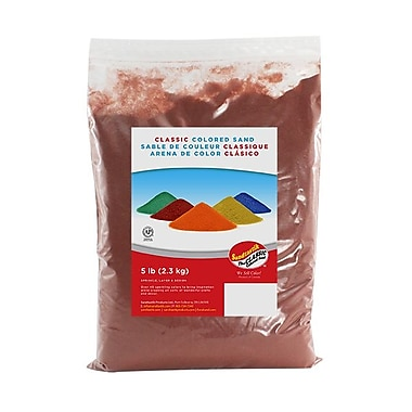 Sandtastik® Classic Coloured Sand, 5 lb (2.3 kg) Bag, Marsala
