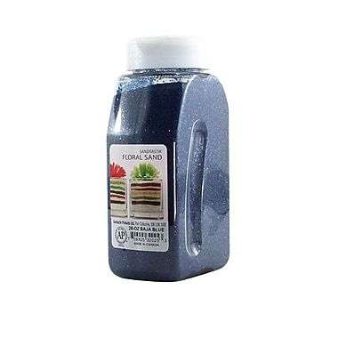 Sandtastik Floral Coloured Sand, 28 oz (795 g) Bottle, Baja Blue, 8/Pack