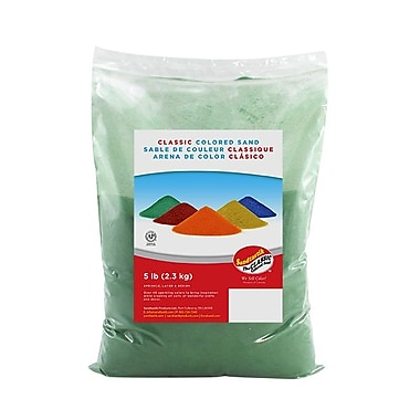 Sandtastik® Classic Coloured Sand, 5 lb (2.3 kg) Bag, Moss Green