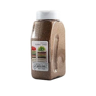 Sandtastik® Floral Coloured Sand, 28 oz (795 g) Bottle, Mocha Latte, 8/Pack