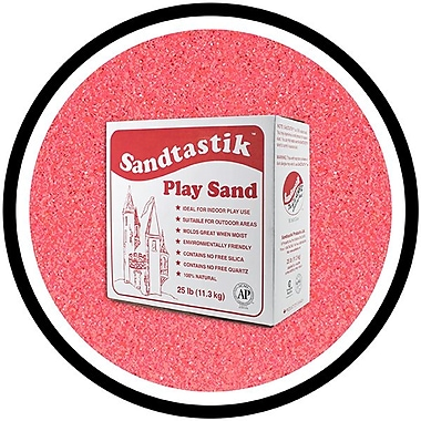 Sandtastik® Classic Coloured Sand, 25 lb (11.3 kg) Box, Bubblegum Pink