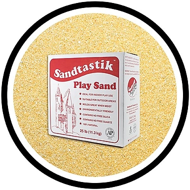 Sandtastik® Classic Coloured Sand, 25 lb (11.3 kg) Box, Peach
