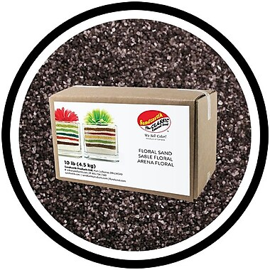 Sandtastik® Floral Coloured Sand, 10 lb (4.5 kg) Box, Graphite