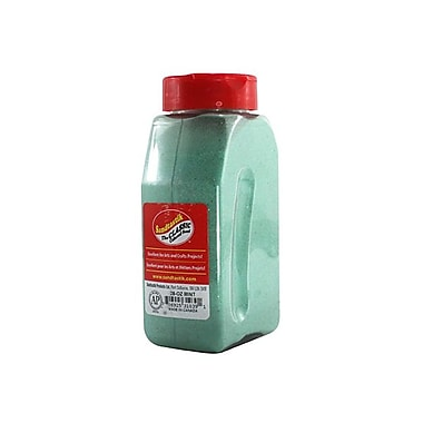 Sandtastik® Classic Coloured Sand, 28 oz (795 g) Bottle, Mint, 8/Pack