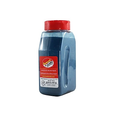 Sandtastik® Classic Coloured Sand, 28 oz (795 g) Bottle, Teal
