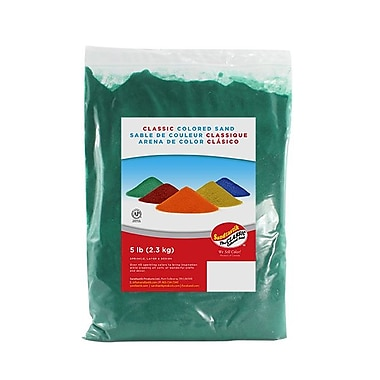 Sandtastik® Classic Coloured Sand, 5 lb (2.3 kg) Bag, Emerald Green, 6/Pack