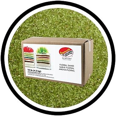 Sandtastik® Floral Coloured Sand, 10 lb (4.5 kg) Box, Sour Apple, 3/Pack