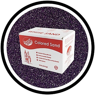 Sandtastik® Classic Coloured Sand, 10 lb (4.5 kg) Box, Eggplant