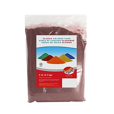 SandtastikMD – Sable coloré classique, 5 lb (2,3 kg), rouge brique