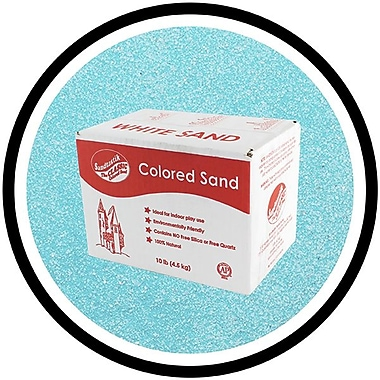 Sandtastik® Classic Coloured Sand, 10 lb (4.5 kg) Box, Light Blue