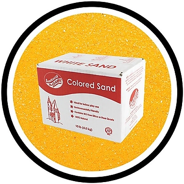 Sandtastik® Classic Coloured Sand, 10 lb (4.5 kg) Box, Fluorescent Orange