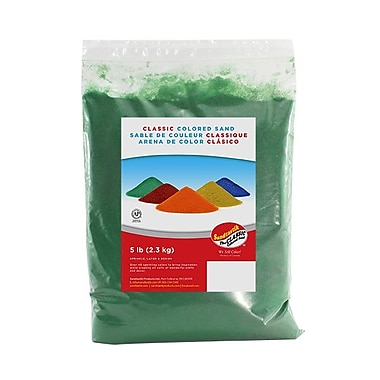 Sandtastik® Classic Coloured Sand, 5 lb (2.3 kg) Bag, Evergreen