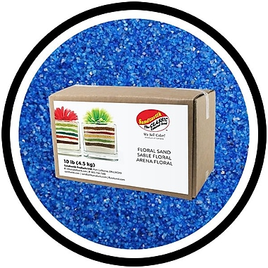 Sandtastik® Floral Coloured Sand, 10 lb (4.5 kg) Box, Blue Hawaii #2, 3/Pack