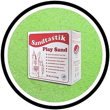 Sandtastik® Classic Coloured Sand, 25 lb (11.3 kg) Box, Light Green