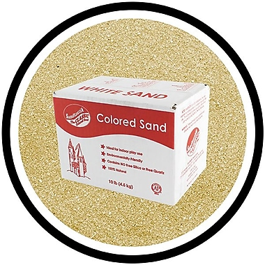 Sandtastik® Classic Coloured Sand, 10 lb (4.5 kg) Box, Latte