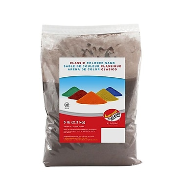 Sandtastik® Classic Coloured Sand, 5 lb (2.3 kg) Bag, Brown, 6/Pack