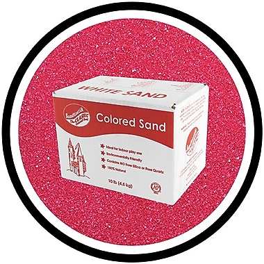 Sandtastik Classic Coloured Sand, 10 lb (4.5 kg) Box, Fuschia, 3/Pack