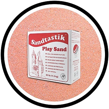 Sandtastik® Classic Coloured Sand, 25 lb (11.3 kg) Box, Rose
