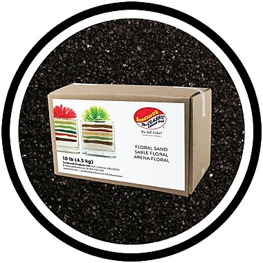 Sandtastik® Floral Coloured Sand, 10 lb (4.5 kg) Box, Black