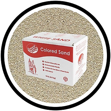 Sandtastik® Classic Coloured Sand, 10 lb (4.5 kg) Box, Silver, 3/Pack