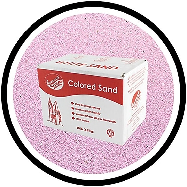 Sandtastik® Classic Coloured Sand, 10 lb (4.5 kg) Box, Lavender