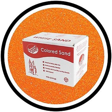 Sandtastik® Classic Coloured Sand, 10 lb (4.5 kg) Box, Orange