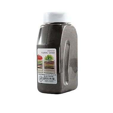 Sandtastik® Floral Coloured Sand, 28 oz (795 g) Bottle, Coffee