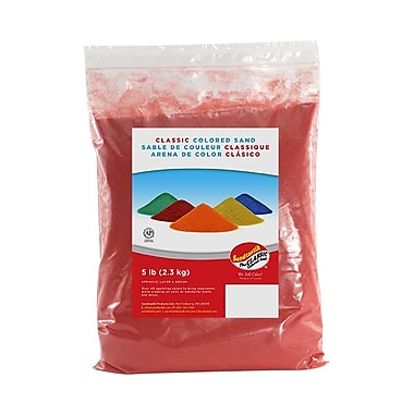 Sandtastik Classic Coloured Sand, 5 lb (2.3 kg) Bag, Coral, 6/Pack