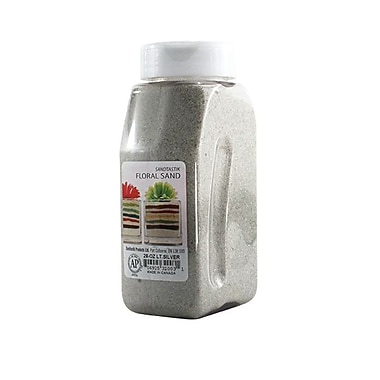 Sandtastik® Floral Coloured Sand, 28 oz (795 g) Bottle, Light Silver