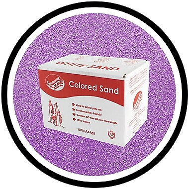 Sandtastik® Classic Coloured Sand, 10 lb (4.5 kg) Box, Ultraviolet