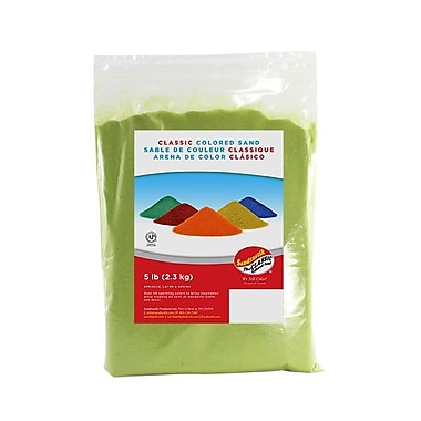 Sandtastik® Classic Coloured Sand, 5 lb (2.3 kg) Bag, Lime Yellow