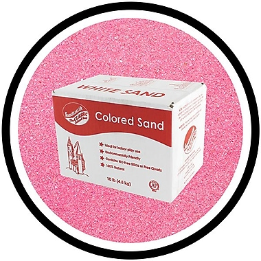 Sandtastik® Classic Coloured Sand, 10 lb (4.5 kg) Box, Pink