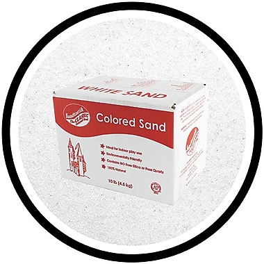 Sandtastik® Classic Coloured Sand, 10 lb (4.5 kg) Box, White, 3/Pack