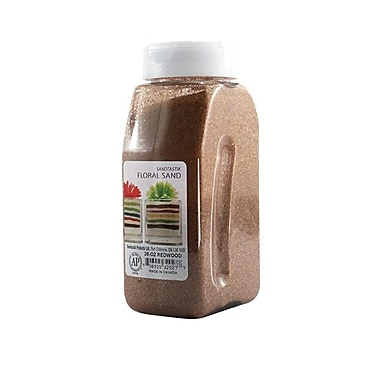 Sandtastik® Floral Coloured Sand, 28 oz (795 g) Bottle, Redwood, 8/Pack