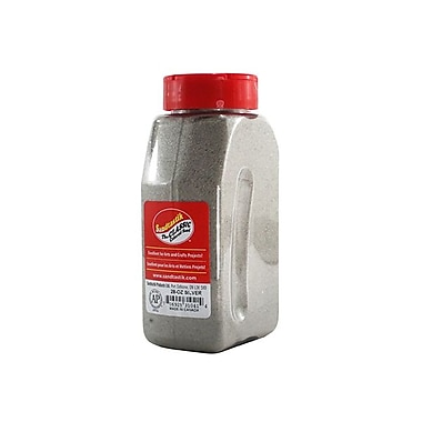 Sandtastik® Classic Coloured Sand, 28 oz (795 g) Bottle, Silver