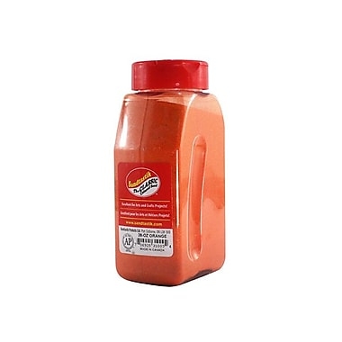 Sandtastik® Classic Coloured Sand, 28 oz (795 g) Bottle, Orange, 8/Pack