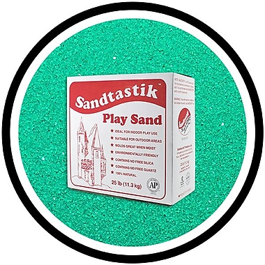 Sandtastik® Classic Coloured Sand, 25 lb (11.3 kg) Box, Green