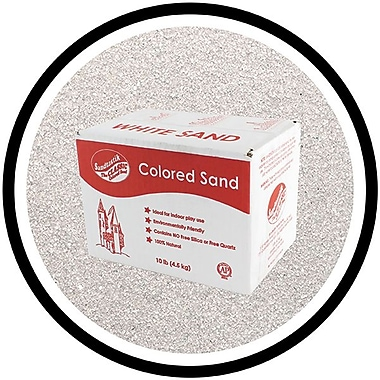Sandtastik® Classic Coloured Sand, 10 lb (4.5 kg) Box, Grey, 3/Pack